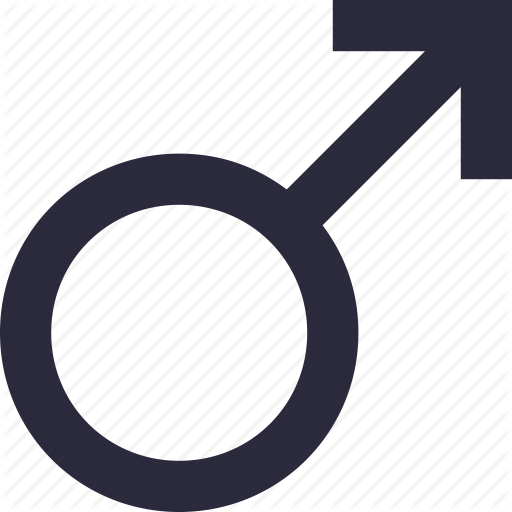 Gender Symbol, Male, Male Gender, Man, Sex Symbol Icon