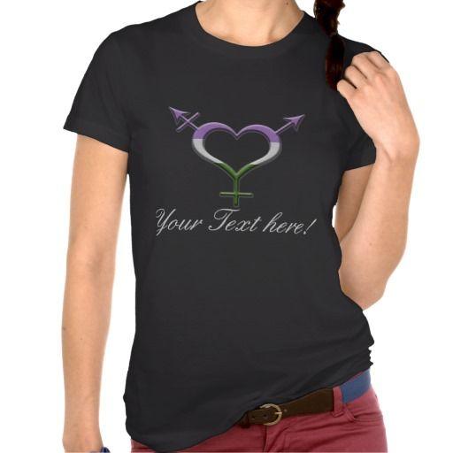 Gender Queer Pride Gender Neutral Symbol T Shirt