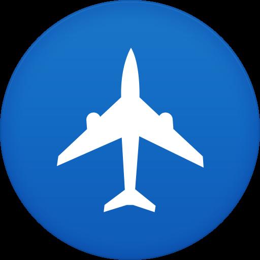 Cropped Plane Flight Icon Aviatest