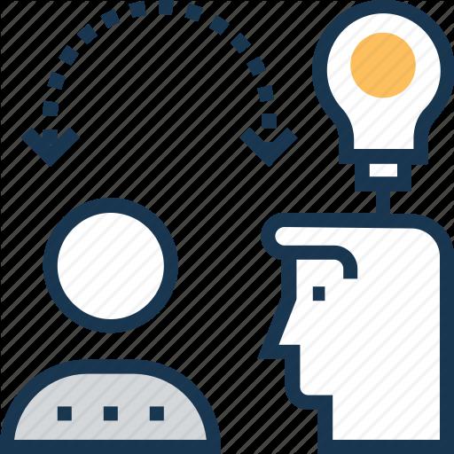 Convey, Fetch, Generate Idea, Idea, Introduction Icon