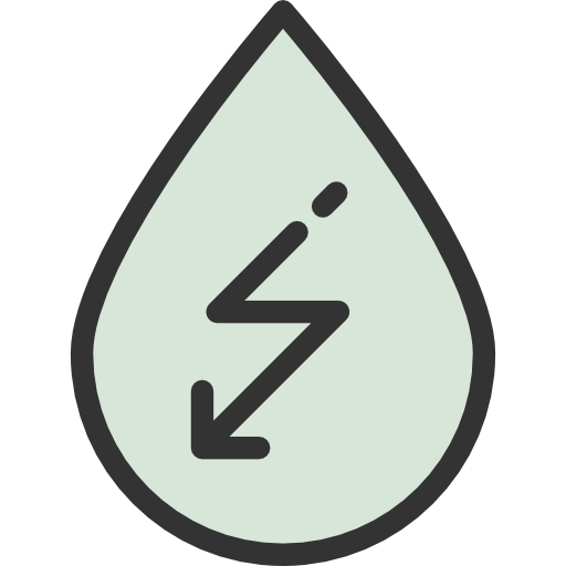 Hydro, Water, Signs, Power, Power Generation, Hydro Power Icon