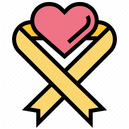 Awareness, Health, Heart, Medical, Ribbon Icon