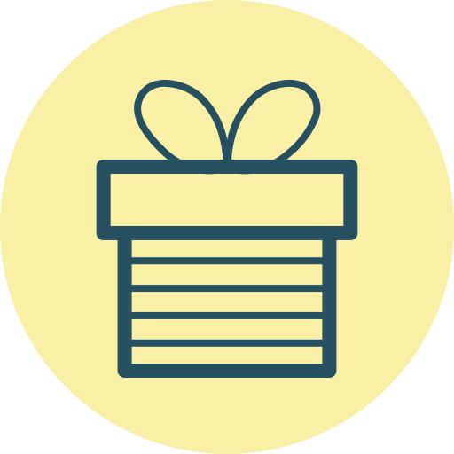 Box, Sketched, Birthday, Interface, Present, Social, Generosity