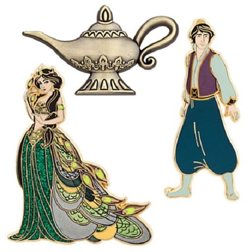 Art Of Jasmine Aladdin Lamp Limited Edition Pin Set Nwt Disney