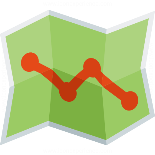 Iconexperience G Collection Map Route Icon