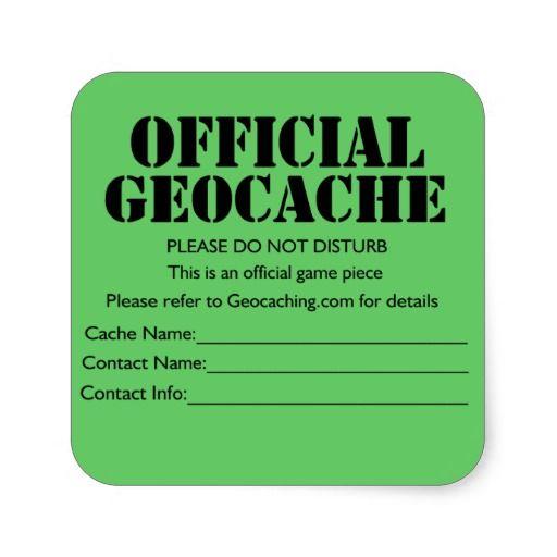 Geocache Label Printable