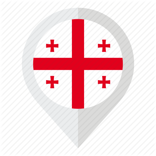 Country, Flag, Geolocation, Georgia, Georgia Flag, Map Marker Icon