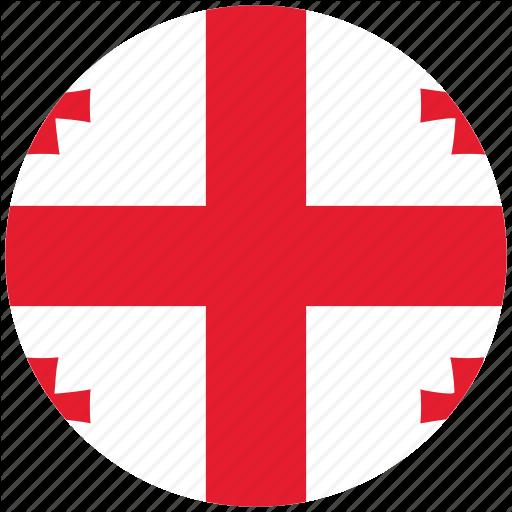 Flag Of Georgia, Georgia, Georgia's Circled Flag, Georgia's Flag Icon