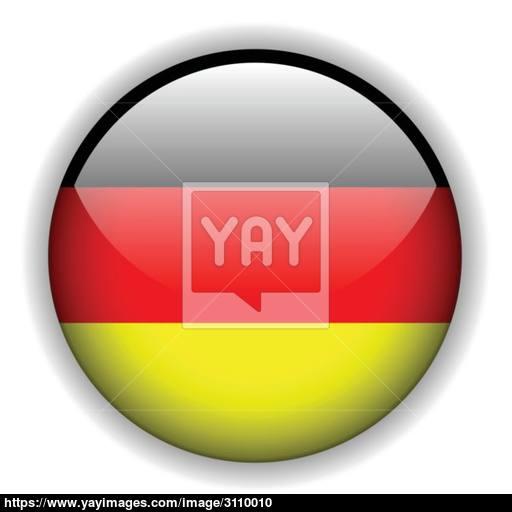 German Flag Button, Vector Vector