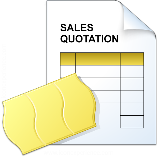 Iconexperience V Collection Sales Quotation Icon