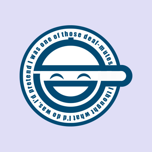 Laughing Man Ghost In The Shell Logo Decal Vinyl Sticker Ebay
