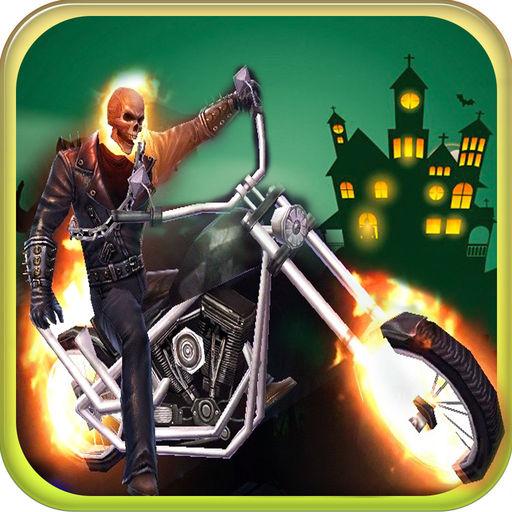 Ghost Rider Stunt Racing Moto X Halloween Race