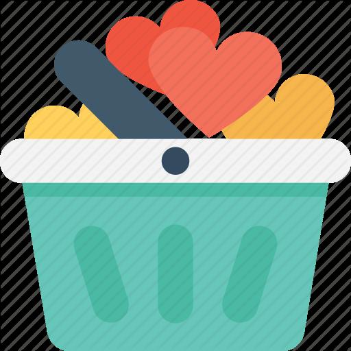 Gift Basket, Gift Hamper, Lots Of Love, Shopping, Valentine Gift Icon