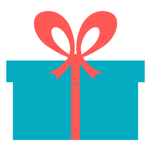 Blue Gift Box Pink Bow Icon