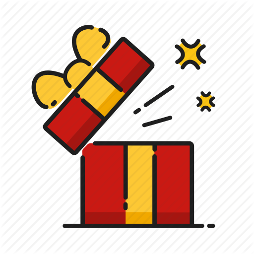 Gift, Gift Box, Opening, Surprise Icon