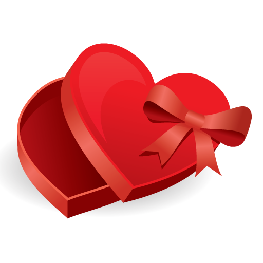 Red Heart Shaped Gift Box Icon Free Icons Download