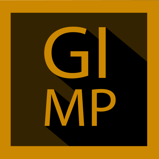 Gimp Icon Long Shadow Style Png