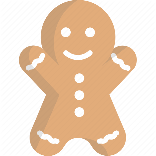Christmas, Ginger Bread Man, Gingerbread, Gingerbread Man Icon
