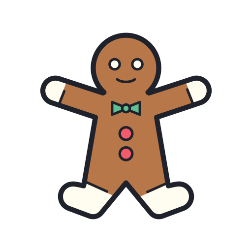 Gingerbread, Man Icon Free Of Merry Holidays