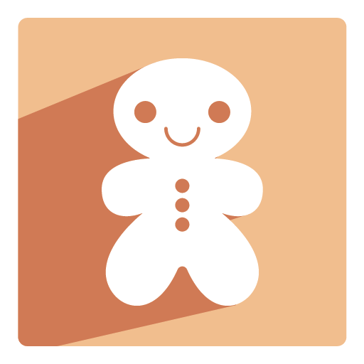 Gingerbread Icon Christmas Shadow Iconset Pelfusion