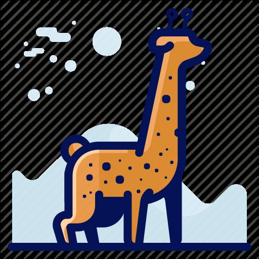 Animal, Girafe, Giraffe, Wildlife Icon
