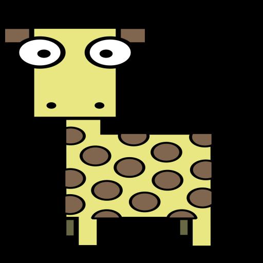 Giraffe, Animal Icon Free Of Squared Animal Icons