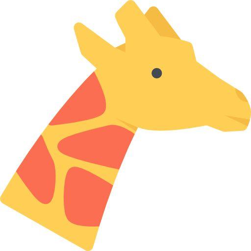 Giraffe Free Vector Icon Designed