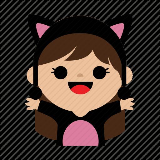 Cat, Child, Costum, Cute, Girl, Kids, Sweet Icon
