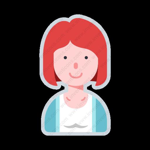 Download Avatar Short Hair Woman,avatar,short Hair Girl Icon
