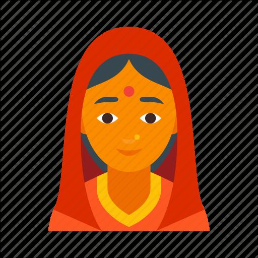 Female, Girl, Hindu, India, Indian, Lady, Woman Icon