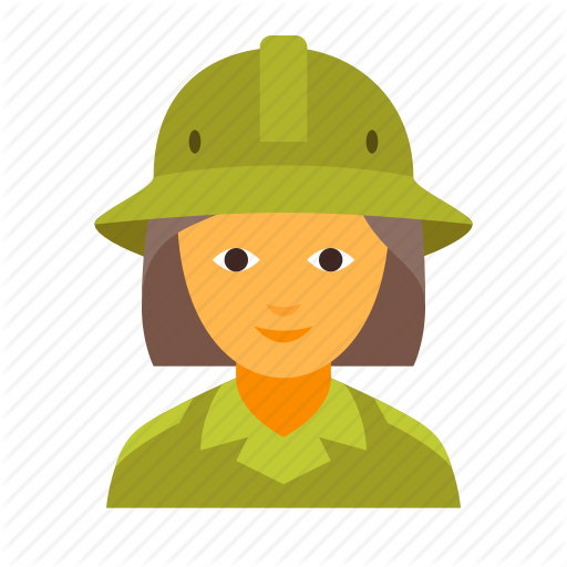 Female, Girl, Safari, Scout, Spy, Woman, Zoologist Icon
