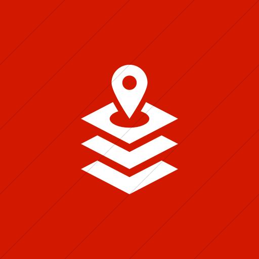 Flat Square White On Red Iconathon Gis Icon