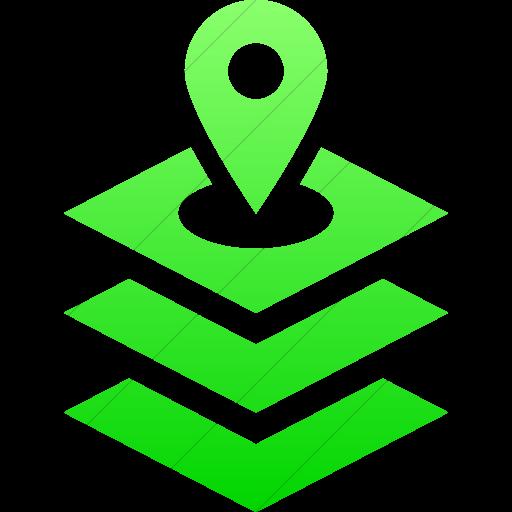 Simple Ios Neon Green Gradient Iconathon Gis Icon