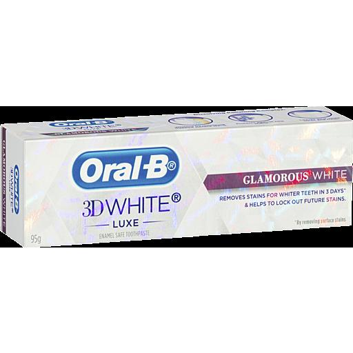 Oral B White Luxe Glamorous White Toothpaste
