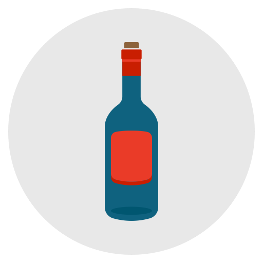 Wine, Drink, Alcohol, Empty, Bottle Icon