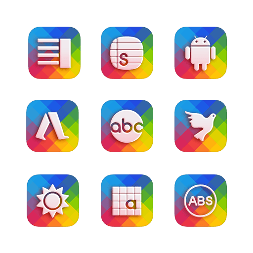 Download Colorful Glass Icon Pack Apk