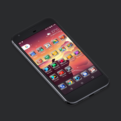 Glass Waves Icon Pack