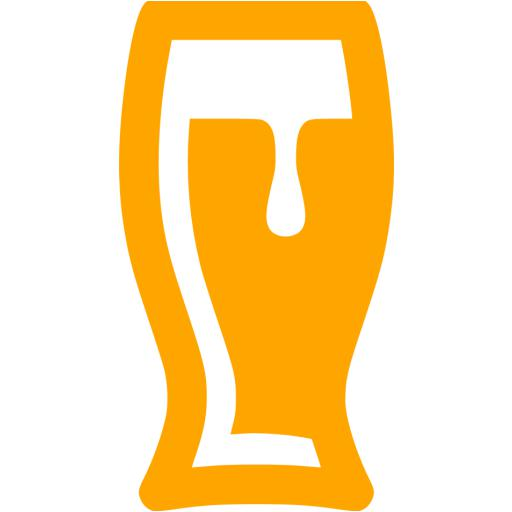 Orange Beer Glass Icon