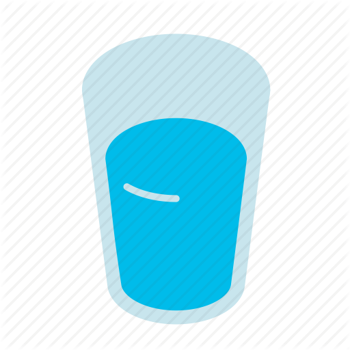 Drink, Full Glass, Glass, Water Icon