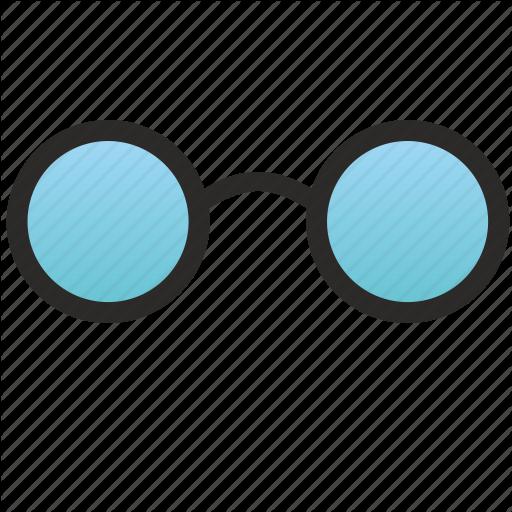 Blue, Glasses, Old, Optic, Optics, School, Study Icon