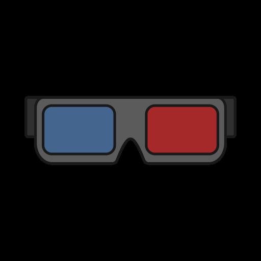 Dimension, Effect, Glasses, Movie, Theater, Three Icon