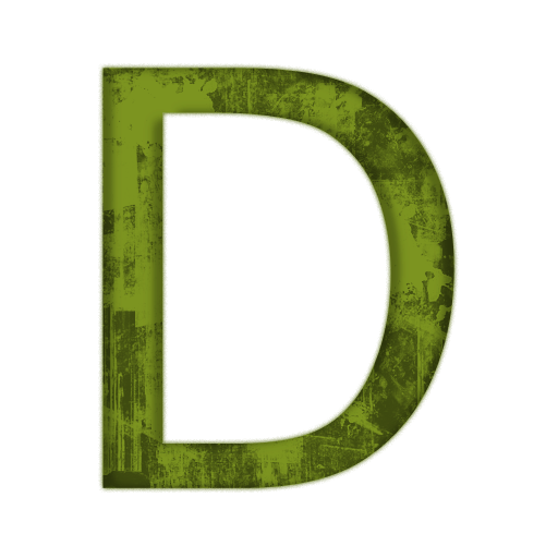 Capital Letter D Icon