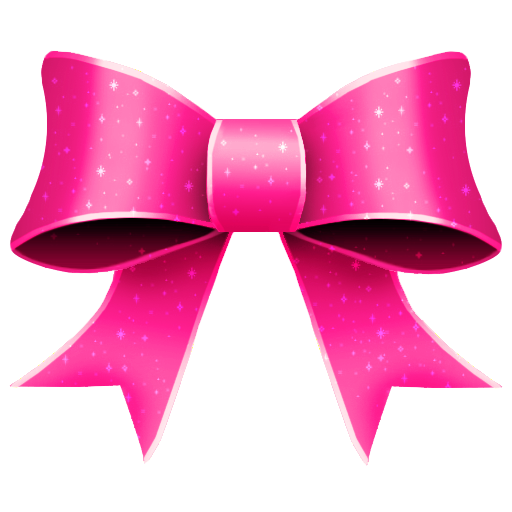 Ribbon, Pink, Bright, Glitter, Christmas Icon Free Of Christmas Icons