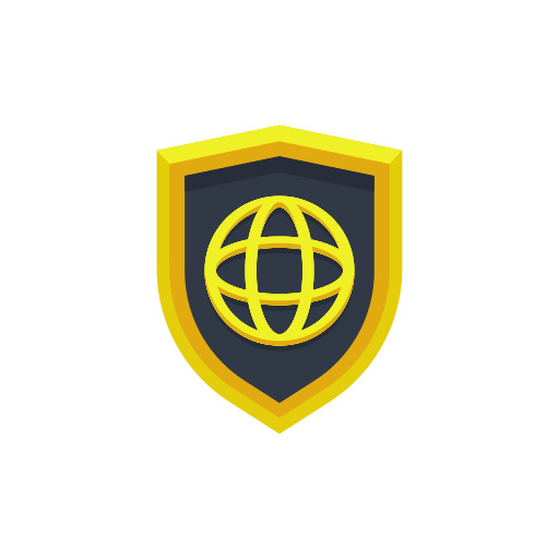 Global Secure Shield Icon Free Download