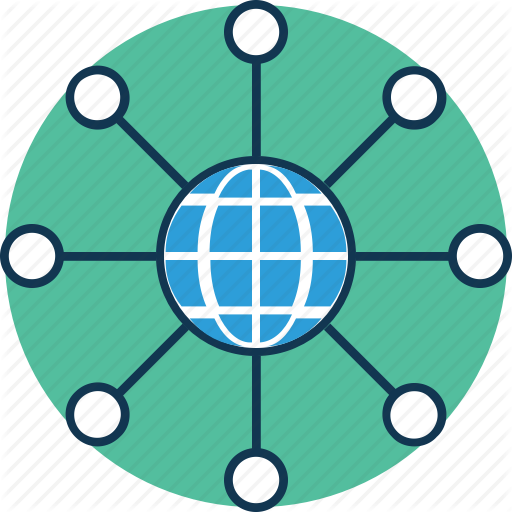Global, Global Hierarchy, Global Network, Globe With Sitemap