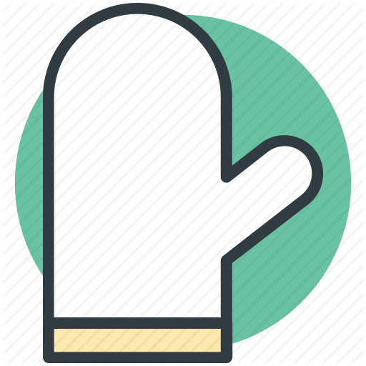 Chef Gloves, Cooking Gloves, Glove, Kitchen Glove, Mitten Icon