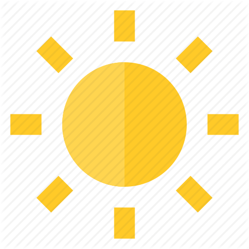 Brightness, Glow, Light, Summer, Sun, Sunny, Weather Icon