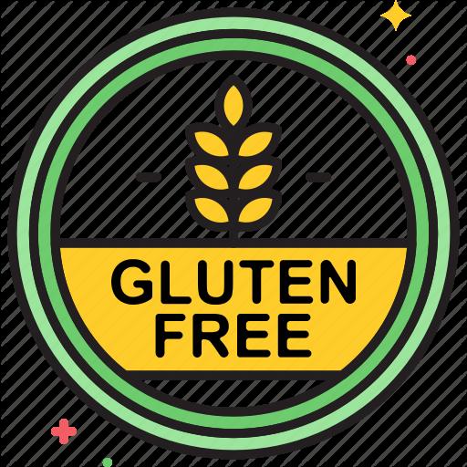 Free, Gluten, Gluten Free, Gluten Free Label, Label, Sticker Icon