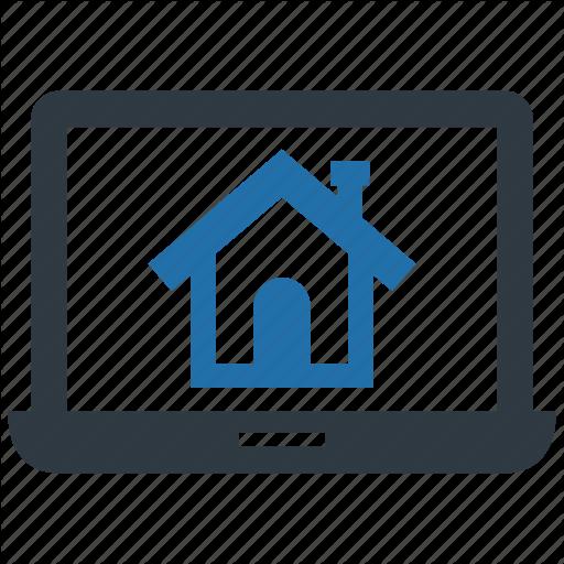 Building, Dorm, Estate, Find, Laptop, Online, Search Icon