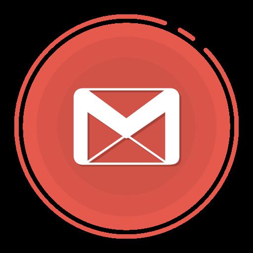 Gmail Circle Icon, Gmail Icon, Gradient Icon, Social Media Icon Icon